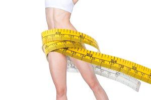 Slim woman in underwear