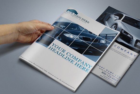 Automobile Brochure Template ~ Brochure Templates ~ Creative Market