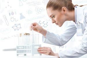 woman scientist working at laborator