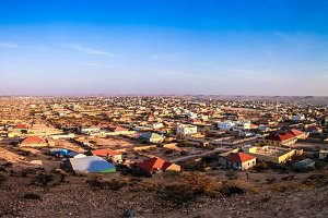 Aerial view to Hargeisa, biggest cit