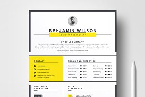 Clean & Minimal Resume / CV Template