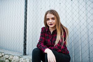 Young hipster girl