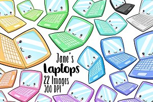 Kawaii Laptop Clipart
