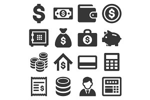 Money and Banking Icon Set