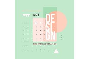 Trendy minimalistic geometric shape