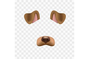 Dog face mask for video chat