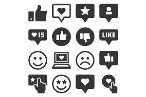 Feedback and Like Icons Set
