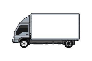 Blank Transportation Truck