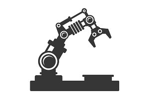Mechanical Robot Arm Icon