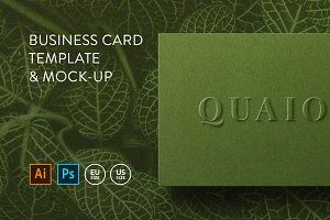 Template & mock-up Business card