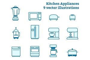 Kitchen Appliance Illustration