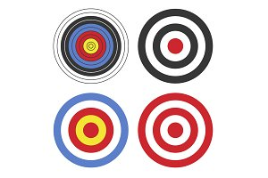 Shooting Target Icon Set