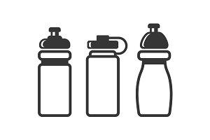 Sports Water Bottles Set