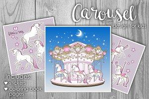 Carousel design for kids
