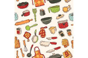 Kitchenware vector cookware for