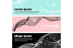 Linear curve waves banners