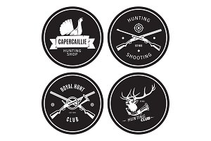 Vintage hunting shop emblems