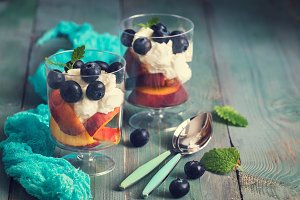 Dessert cottage cheese with