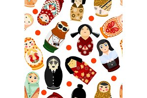Doll matryoshka vector matrioshka