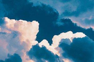 Dark blue sky clouds texture