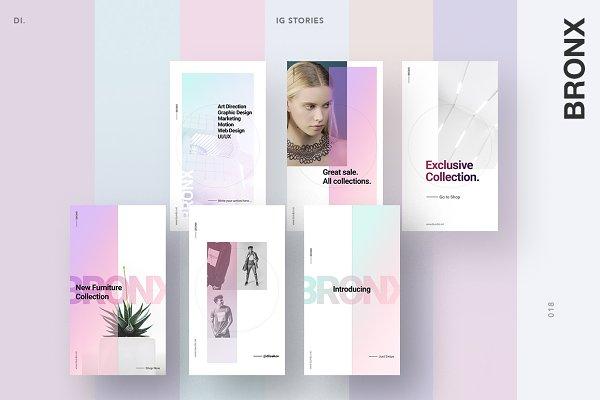 Instagram Templates: Dima Isakov - BRONX Light Instagram Stories Pack