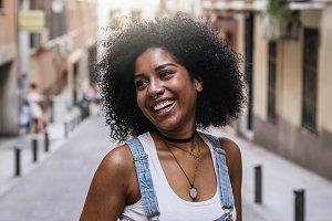 Portrait of a beautiful black woman.