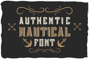 Nautical font + bonus label