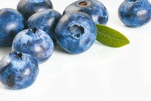 Blueberry frame, isolated