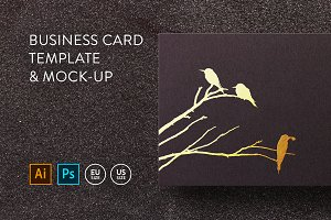 Business card Template & Mock-up