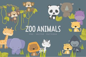 Little Zoo Animals & Patterns