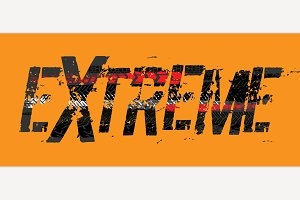 Tire Extreme Lettering