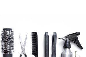 Hairdressing set isolated