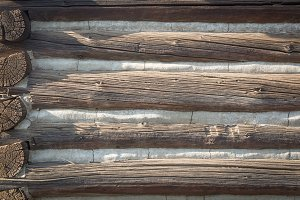 Abstract of Vintage Antique Log Cabi