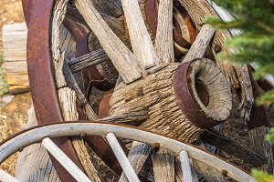 Abstract of Vintage Antique Wood Wag