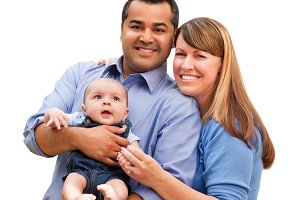 Young Mixed Race Family