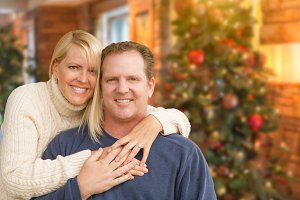 Loving Caucasian Couple Portrait In