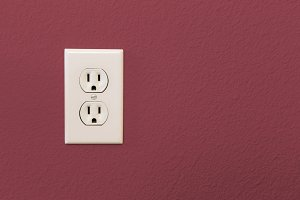 Electrical Sockets In Colorful Burgu