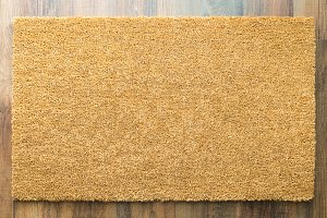 Blank Home Sweet Home Welcome Mat On