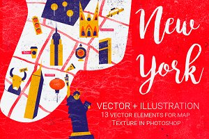 Vector Ilustration New York map