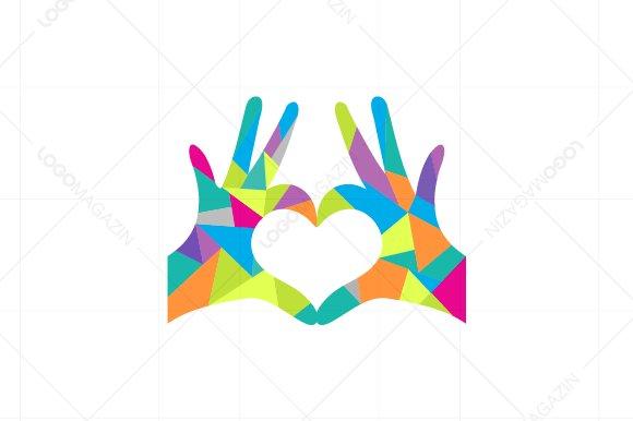 hands heart love logo logo templates creative market