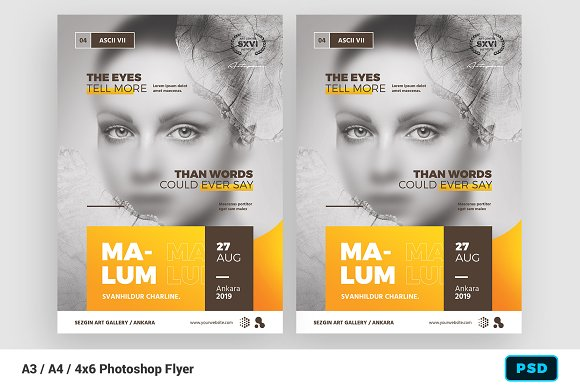 artist event flyer poster template flyer templates creative market