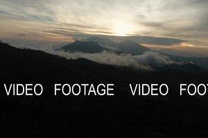Mountain landscape with sunset. Jawa