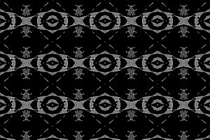 Ethnic Dark Seamless Pattern