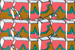 Colorful Hand Draw Geometric Pattern