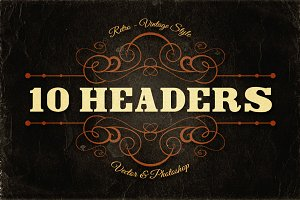 10 Retro/Vintage Headers