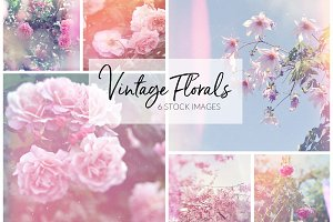 Vintage Inspired Floral Photo Set