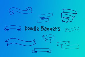 12 Doodle Banners