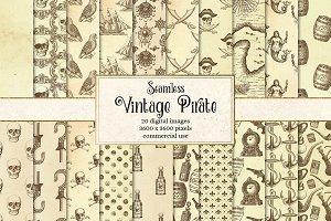 Vintage Pirate Digital Paper