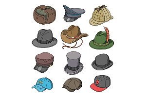 Hat vector fashion clothing headgear
