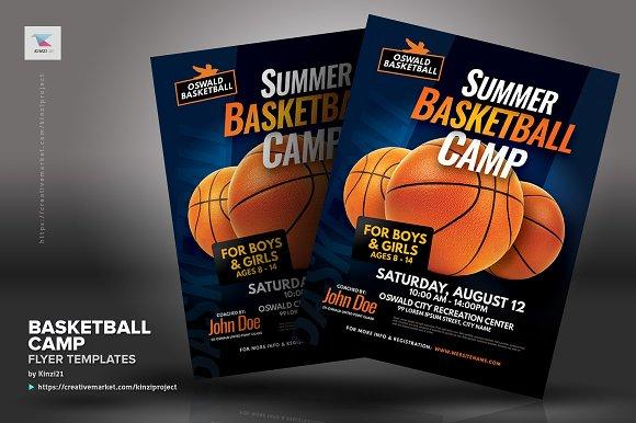 Basketball Camp Flyer Templates Flyer Templates Creative Market